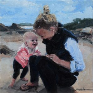 oil portrait painting of children